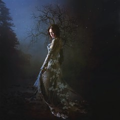 Night Walker ('_ellen_') Tags: woman night walker blue sky dress ireland irish