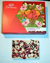 Raspberry, rose and hibiscus KitKat (Squirmelia) Tags: raspberry rose hibiscus kitkat chocolate