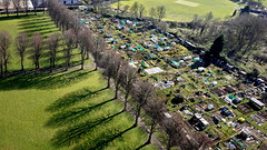 Over St James Park E17 (Alan Denney) Tags: kap kiteaerialphotography kite stjamespark walthamforest walthamstow london allotments