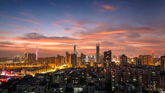 Oct.20.2016 twilight (kevinho86) Tags: 169 24mm pearlrivernewtown cloudy canon colour eos6d sky   city cityscapes skyscraper skyline architectural urban      landscape scenery scape canton guangzhou sunset downtown magichour ontheroof innerlights    twilight
