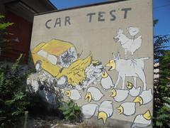 car test (en-ri) Tags: modena wall muro graffiti writing giallo nero bianco auto car automobile incidente