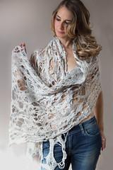 COBWEB SILVER GRAY (ResPiri handmadefelt) Tags: moda transparency wool silk lana cobweb scarf sciarpa felt feltro handmade handcraft eco accessori fibers fiber art accessories gray organic silver