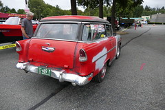 56 Chev Shorty (bballchico) Tags: 1956 chevrolet shorty hotrod ratbastardscarshow carshow 50s stationwagon 206 washingtonstate trifive