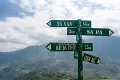 Sapa, Vietnam (DitchTheMap) Tags: 7 food landscape nature road seasia sapa trip vietnam agriculture arrow asia asian blue colorful countryside culture direction distance environment far farm field flickr green herd highway kilometer km land landmark location mile milestone mountain north outdoor people red rural season sign signpost stone summer traffic transport travel village white