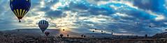 Panorama from hot air balloon (fkaymak) Tags: turkey trkiye kapadokya cappadocia balloon greme nevehir balon goreme anatolia nature view tourism rock cave panoramic travel ancient scene mountain famous hill peri bacalar sonbahar seyahat turkei