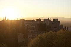 Vista de la Alhambra desde el Generalife. Atardecer de otoño (lamimesis) Tags: granada alambra generalice