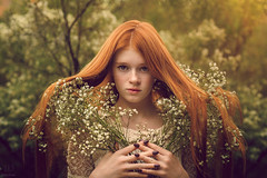 Red Queen ({jessica drossin}) Tags: jessicadrossin portrait flowers trees girl redhair redhead freckles wwwjessicadrossincom