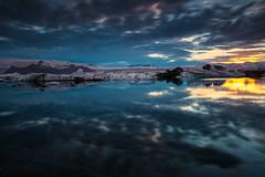 Midnight Sun (Marshall Ward) Tags: midnightsun iceland summer jkulsrln ice icebergs icebeach marshallward nikond800 afszoomnikkor2470mmf28ged landscape seascape europe