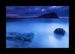 Tejita (hmnx) Tags: tenerife canaryislands beach rocks montanaroja sunrise clouds volcanic blue