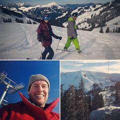 Vandaag een #super, #gezellig #leuke, #geslaagde, #lekkere, #actieve dag in de Tiroolse bergen met Mich en Kyra.  De eerste sneeuw is echt héérlijk! :-) Lekkere pistes en ook nog powder riding gedaan. Met twee worden #TOP #DAG  #Tirol #Oostenrijk #skien #