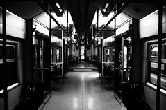 C'era una volta il futuro (Diego Menna) Tags: cumana circumflegrea diegomenna d90 nikond90 napoli train treno biancoenero blackwhite explore explored