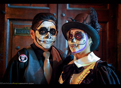 Day of the Dead 2016 - San Miguel de Allende, Mexico (Sam Antonio Photography) Tags: sanmigueldeallende mexico samantoniophotography male skull mexican halloween female decoration death white horror scary girl makeup portrait day dead mask calavera celebration black creepy youngwoman zombie catrina festival holiday muertos carnivalcostume fantasy magicfolklore diadelosmuertos tophat sugarskull scaryportrait dayofthedead fashion woman costume people november fiesta