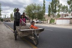 Going home. (Ravikanth K) Tags: 500px leh ladakh people travel india jammuandkashmir outdoor trolly family kid parents happy work return road