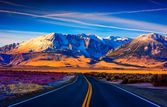 Endless Road (Simon Huynh) Tags: oldroad montain snow autumn wildflower clouds cloudy california mono lake morning lights shadow