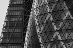 City Dwellers... (JH Images.co.uk) Tags: leadenhall hdr dri architecture skyscrapers bw blackandwhite london windows curves