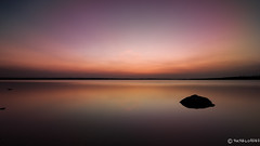 (TattooIND) Tags: sunset lake sky reflection colorful landscape krs backwaters