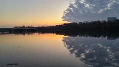 Rosslyn Rorschach (ameschen) Tags: rooseveltisland rooseveltbridge rosslyn potomacriver potomac sunset dcist