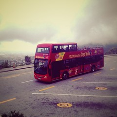 Overcast weather, fog weather overlooking Cape Town from Table Mountain with CitySightseeing Bus. | #tour #citysightseeing #hoponhopoff #flickr #redcitytour #shotleft #photoshop #photographer #wowsouthafrica #CapeTown #overlooking #goplaces #adventure (mphocameron) Tags: tour citysightseeing hoponhopoff flickr redcitytour shotleft photoshop photographer wowsouthafrica capetown overlooking goplaces adventure