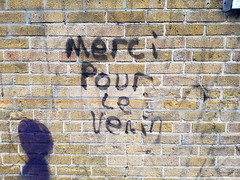Merci pour le venin (Exile on Ontario St) Tags: graffiti merci pour le venin montral ruelle alleyway wall walls mur murs ruelles alleys alley alleyways plateau montroyal venim venom leplateau mont royal plateaumontroyal montreal streetart written words thanks thankyou street art urbain urban message sarcasm