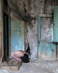 F u t i l i t y (sadandbeautiful (Sarah)) Tags: me woman female self selfportrait abandoned hallway ny hospital