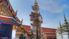 Gardien du Grand Palais de Bangkok (Lцdо\/іс) Tags: grand palace palais royal bangkok thailande thailand thai asia statue asian asie tourisme touriste city citytrip hdr