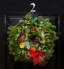 wreath (norm.edwards) Tags: wreath christmas 2016 door green traditional holly greenery joy joyful