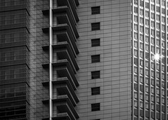 Insomnia (parenthesedemparenthese@yahoo.com) Tags: dem allemagne bw blackwandwhite blancetnoir building frankfurt germany nb noiretblanc streetphotgraphy windows batiment bn byn canoneos600d ef50mmf18ii exterieur fenetres outdoor streetphotographie