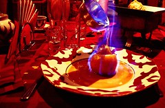 Set fire to the pear =D (Namicjo) Tags: travel food canon russia flame russie ufa bashkortostan
