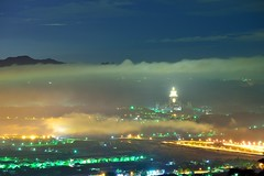 Foggy..... (Vincent_Ting) Tags: city blue light sunset sky clouds sunrise foggy taiwan    seaofclouds