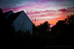 IMG_7294 (Nanna Munk) Tags: sunset church colors beautiful denmark cross tolne