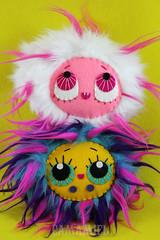 Monster Nuts! Fog & Ivy (Ana Camamiel) Tags: cute monster fur doll felt plush kawaii monstruo peluche mueca handamde fieltro