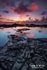 North Shore Sunset Reflections Oahu Hawaii (Kiall Frost) Tags: sunset sun black color colour pool clouds reflections hawaii nikon rocks oahu northshore lavarock kiallfrost d800e