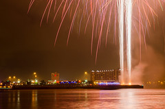 Fireworks sneak peak (geminivision) Tags: sky night river fireworks louisville july4th independenceday priya swapna vamsi ravuru