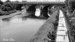 Riverside - Preston (Victor_CChan) Tags: park uk bridge light seascape water pen river walking flickr riverside olympus lancashire lanscape mft avenhampark riverribble microfourthirds