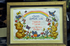 IsabelMarieBirthRecord01 (TrishaLyn) Tags: california crossstitch crafts needlepoint sanleandro birthrecord isabelmarie