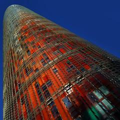 Menhirdelao (Fotourbana) Tags: barcelona building arquitectura agbartower torreagbar agbar