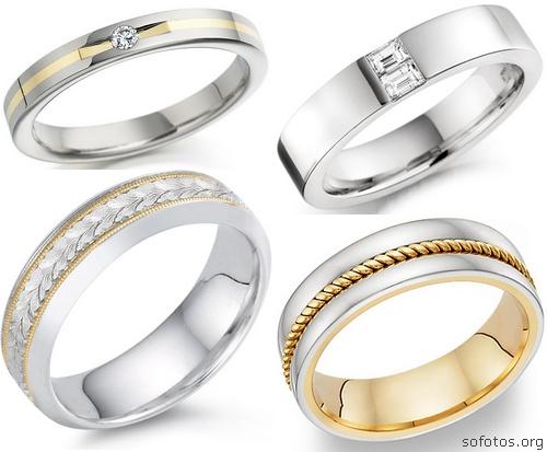 Alianças de casamento prata
