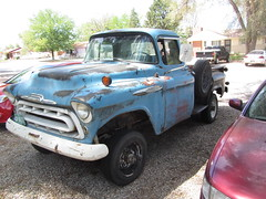 Hasn't moved in at Least a Decade (Hugo-90) Tags: classic chevrolet truck colorado 4x4 antique pueblo pickup co 1957