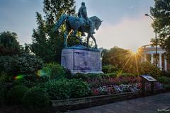 Lee Park (BobMical) Tags: street city statue landscape virginia nikon downtown outdoor charlottesville robertelee leepark