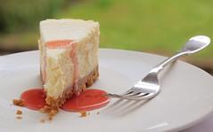 Week 30/52 (Paul Heester) Tags: food strawberry sauce plate fork cheesecake photoaweek 52weekproject 52weeksproject