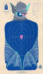 Blue Bat (nejjiferdavis) Tags: art museum painting paper drawing bat minneapolis handpainted mn jenniferdavis nmu shootingtargets devosart