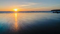 Flow Towards the Light (intrazome) Tags: ocean longexposure sunset sea england sun beach nature water beautiful landscape coast nikon exposure cornwall day waves beautifullight clear coastline sigma1770 d5100