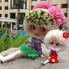 #Rose and #Petite #Yarnhead #blythes by #DrBlythenstein
