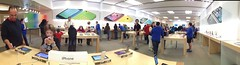 Checking out the new stuff at the Danbury Apple Store (VJnet) Tags: panorama apple macintosh store mac applestore dambury uploaded:by=flickrmobile flickriosapp:filter=nofilter