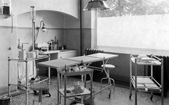 Forest Hospital, treatment room (robmcrorie) Tags: england london history forest hospital bench room hill dressing patient medical health national doctor nhs service medicine british nurse healthcare essex development infirmary treatment chingford buckhurst chigwell sterilising