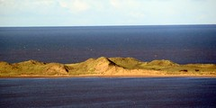 Sunlight on the sand dunes (billnbenj) Tags: cumbria barrow sandhills irishsea walney sundunes