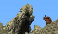 This terrain formation kinda looks like a monster emerging from the sand. - more at http://ift.tt/1a7N3av (Minecraft Server Finder) Tags: list server servers minecraft minecraftserverfindercom