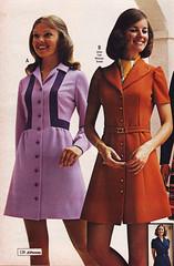 Pennys 73 fw lilac orange (jsbuttons) Tags: pink orange clothing dress purple buttons womens 70s catalog seventies 1973 73 pennys jcpenny vintageclothing vintagefashion buttonfront