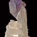 quartz var. amethyst, quartz var. scepter