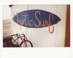 Mystic Surf (SOMETHiNG MONUMENTAL) Tags: film beach bike surf fuji indiana instant indianadunes instax somethingmonumental mandycrandell